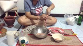 วิธีทำไส้กรอกอีสานง่ายๆ BY. แม่มะลิ
