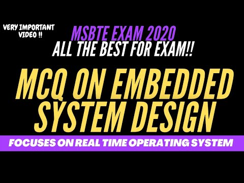 MCQ on Embedded system ||part 2||Focuses on Real Time Operating System(RTOS)|| CSE ||ES || IT|| 2020