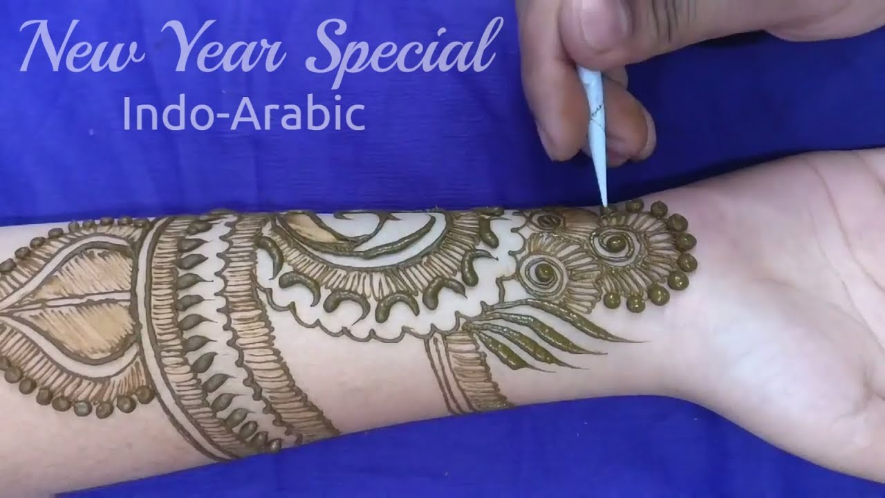Henna Or Mehndi : Stylish indo arabic henna or mehndi design new year special
