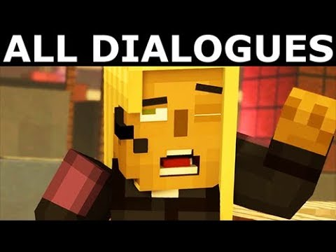 Jesse Meets Friendly Stella - All Dialogues - Minecraft: Story Mode Season 2 Episode 5