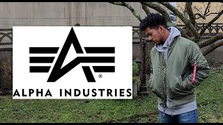 2017 Alpha Industries MA-1 Bomber Jacket Sage Green Unboxing/Review