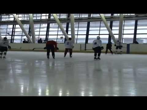 Besa Tsintsadze: power skating with S.Gonchar & E.Malkin - part2