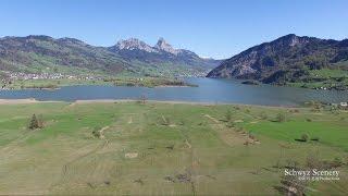 4K Lauerzersee, Schwyz SWITZERLAND 湖 dji Inspire