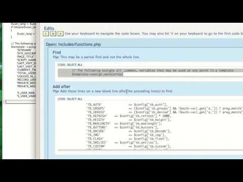 PHPBB: Basic Mod Installation