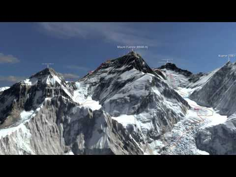 Virtual conquest of a summit -- Mount Everest in 3D
