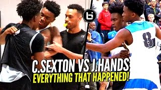 Collin Sexton vs Jaylen Hands HEATED Battle! How It Really Started  & What The Crowd Did!!