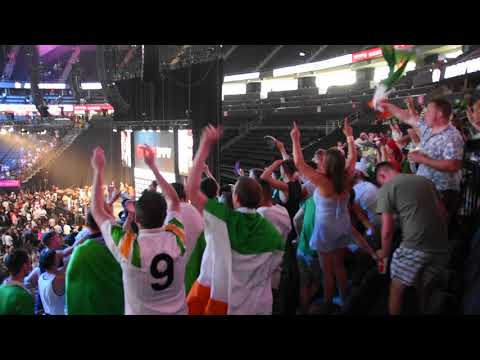 Irish Fans at the T Mobile Arena