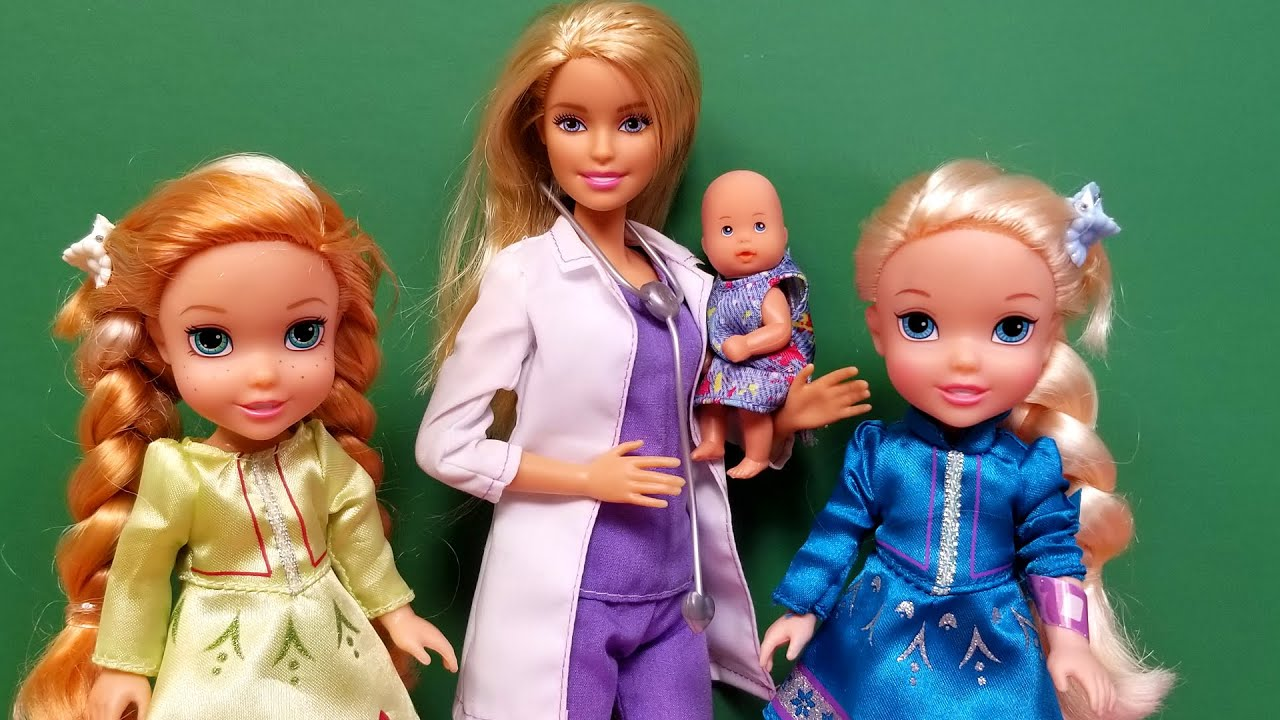 Doctor Check Up Elsa Anna Toddlers Barbie Youtube