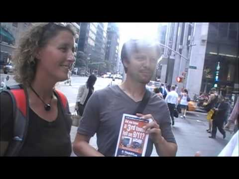 Interview with Engineer - AE911Truth Street Actions in NYC on 9/11/13
