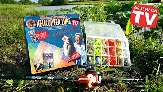 Bass Fishing w/ the HELICOPTER LURE!!! (ACTUALLY WORKED) -As Seen on TV Fishing Challenge