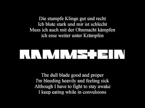 Rammstein - Mein Teil (Lyrics With English Translation)