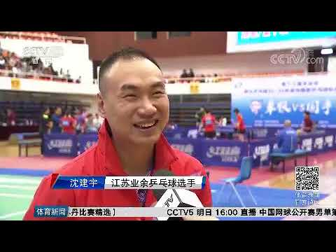 (Eng Sub) 2017 Amateur Vs Professional Table Tennis Competition Interview -- CCTV 5