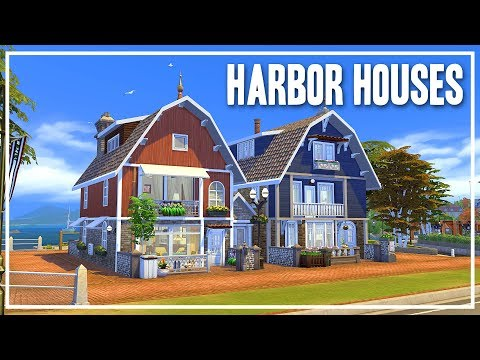 Harbor Houses - The Sims 4 Speed Build