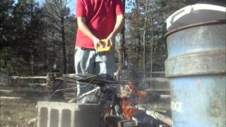 Burning copper wires for scrap