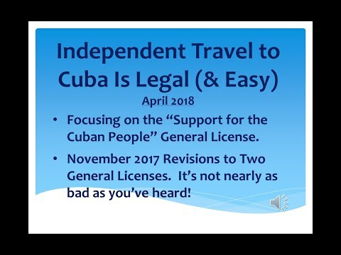 Cuba Travel 2018 – Independent Travel – Support for the Cuban People