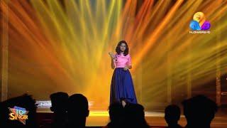 Sreya Jayadeep performance at flowersTV