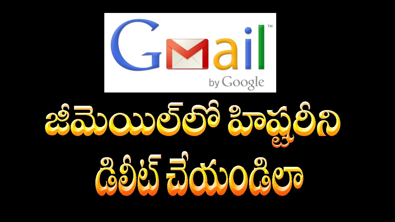 How To Delete Gmail Search History Telugu Online Tutorial Sravan Kotagiri