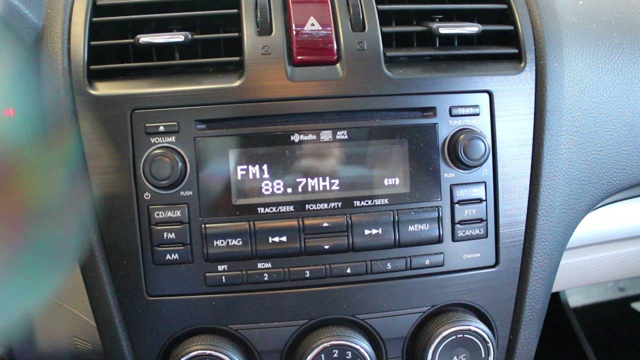 2015 subaru forester radio [ 1280 x 720 Pixel ]