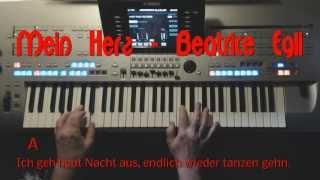 Repeat youtube video Mein Herz - Beatrice Egli / Instrumental-Cover mit Style auf Yamaha Tyros 4 / Lyrics u. Chords