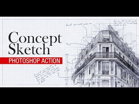 Concept Sketch Effect in Photoshop Tutorial thumbnail