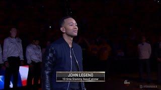John Legend Sings National Anthem | Cavaliers vs Warriors | Game 1 | June 2, 2016 | 2016 NBA Finals