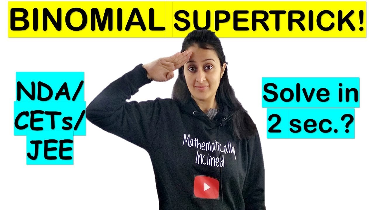 BINOMIAL EXPANSION TRICK/SHORTCUT for NDA/AIRFORCE/JEE/CETs/RAILWAYS/BANKING/SSC-CGL