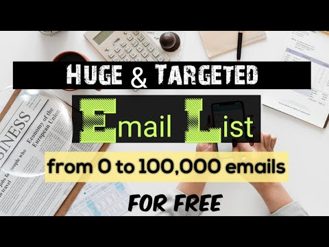 Email Marketing # 3 | How to build an Email list | Free email list for marketing 2020