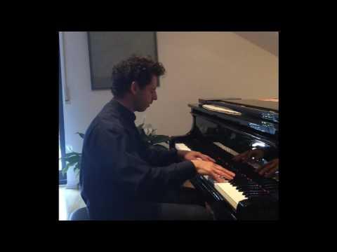 Roman Zaslavsky Practicing Prokofiev at his studio