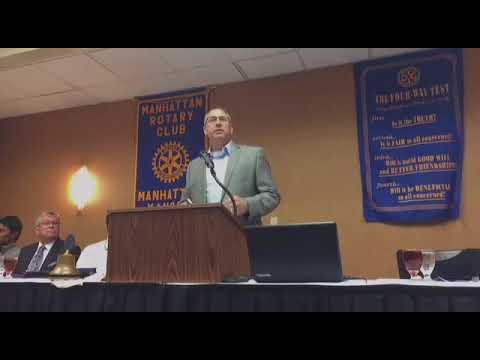 Mark Chalfant - CEO of MAMTC Speaks at Manhattan Rotary Club