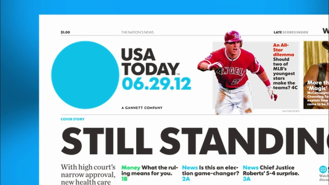 USA TODAY redesign: A look at the #newusatoday - YouTube America Today