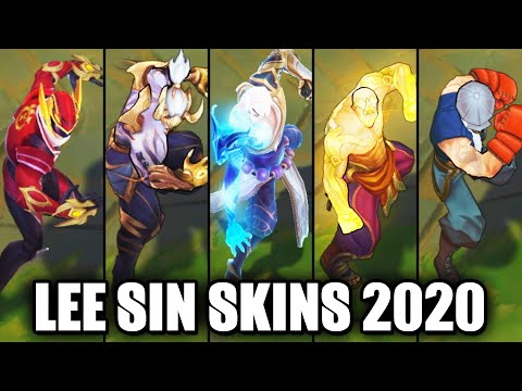 All Lee Sin Skins Spotlight 2020 - Storm Dragon Latest Skin (League of Legends)
