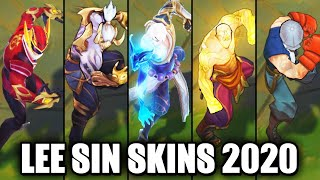 All Lee Sin Skins Spotlight 2020 - Storm Dragon Latest Skin (League of Legends)