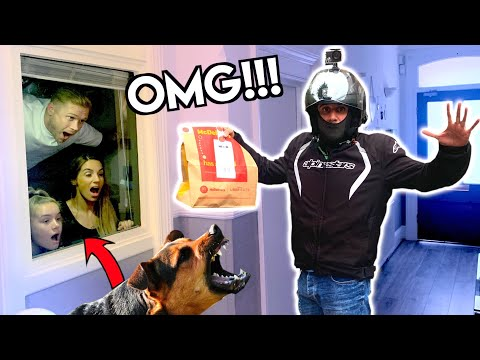 WE PRANKED UBER DELIVERY DRIVERS IN OUR HOUSE!!