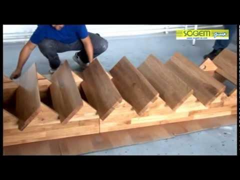 Montage DUn Escalier Contemporain Auvergne Droit Sogem  Youtube