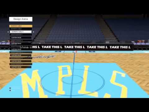 Minneapolis Lakers Court And Jersey