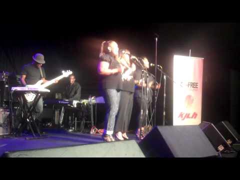 Margo Thunder live at Radio Free KJLH 102.3.....