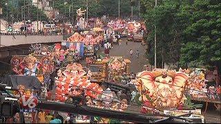 Ganesh Shobha Yatra In Hyderabad | Ganesh Nimajjanam  Telugu News