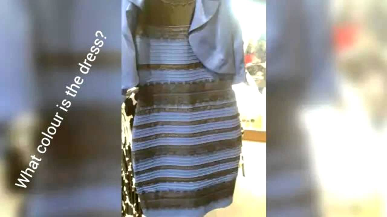 White and gold dress optical illusion color