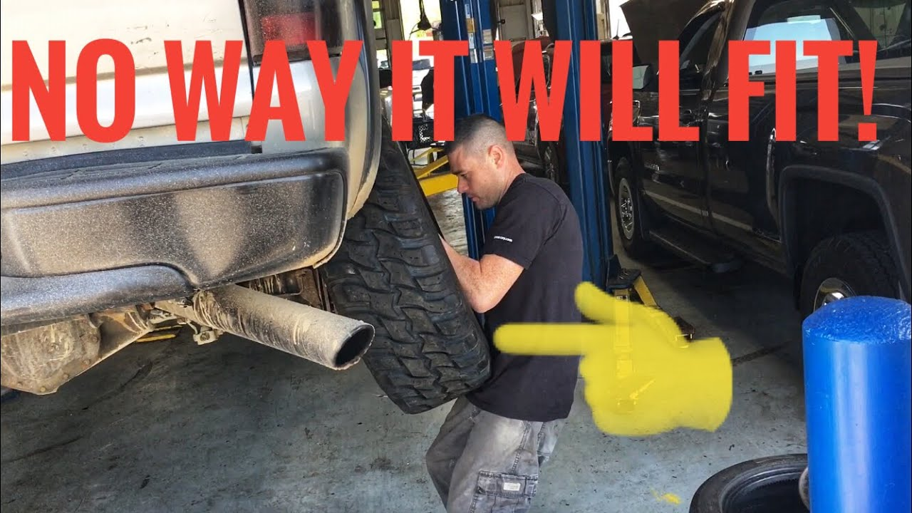 Will 35 Inch Mud Tires Fit With No Lift Youtube