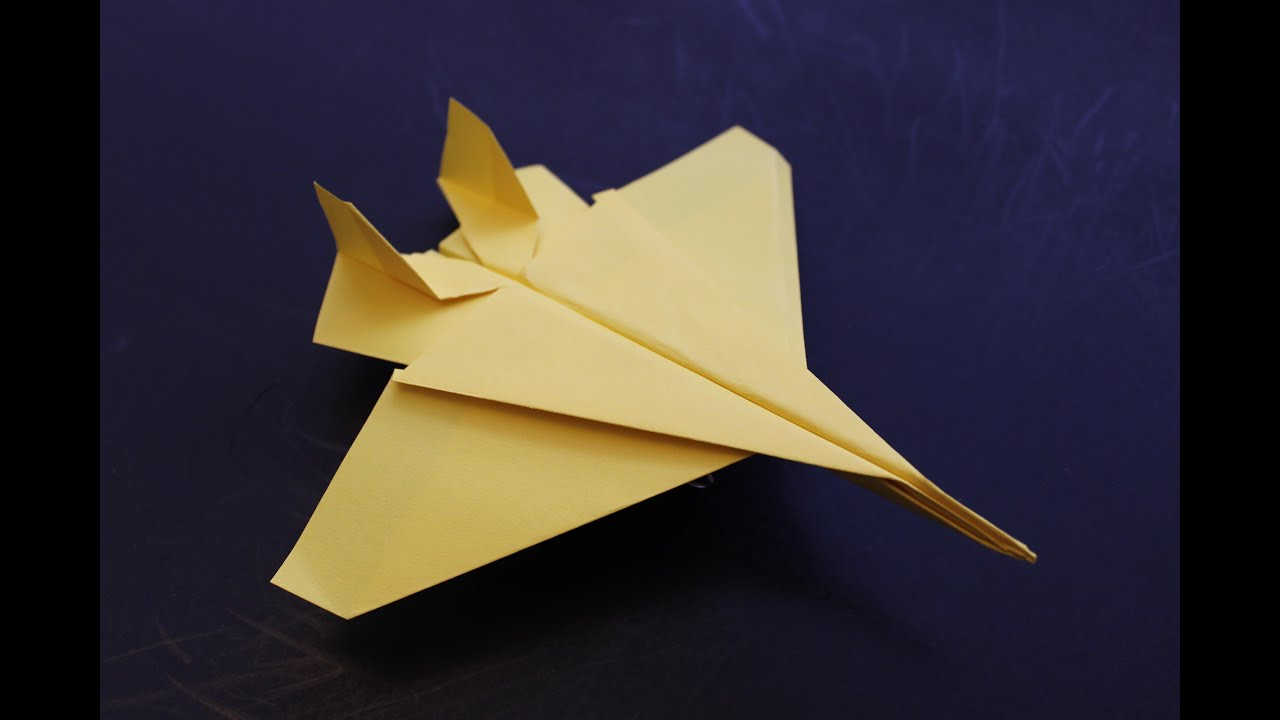 how to make a cool paper plane origami instruction f15 eagle youtube