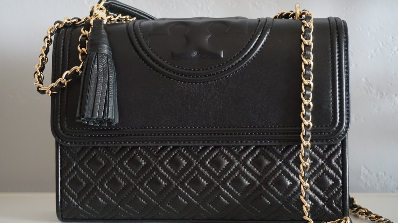 ccbe7149e74 Unboxing  Tory Burch Fleming Convertible Shoulder Bag - YouTube