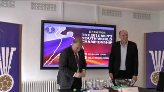 THE DRAW FOR THE MEN'S YOUTH WORLD CHAMPIONSHIP