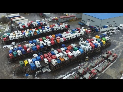 Разборка грузовиков - по настоящему большая - Склад №1 Обзор - Razborgruz.ru