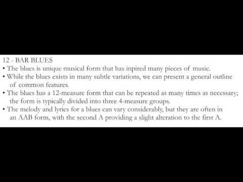 Music Theory: Introduction to Common Forms