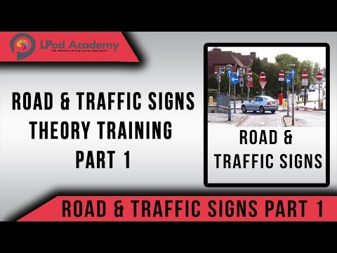 Driving Theory Test Questions and Answers 2017 - Road and Traffic Signs  - Part 1