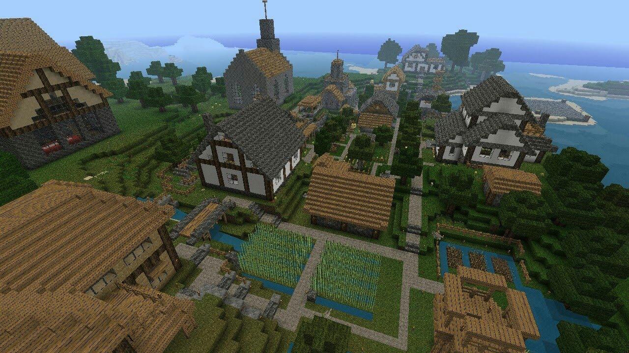 Картинки про деревню в майнкрафт завершилась практически