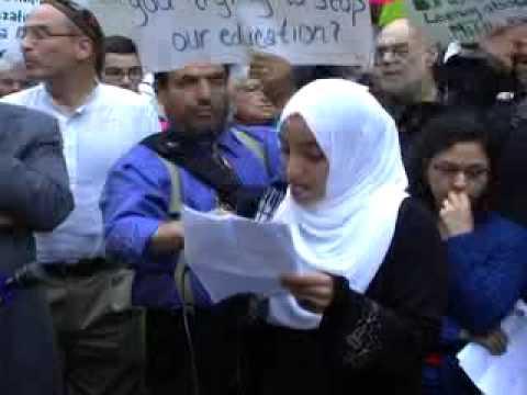 Rally to support Khalil Gibran International Academy