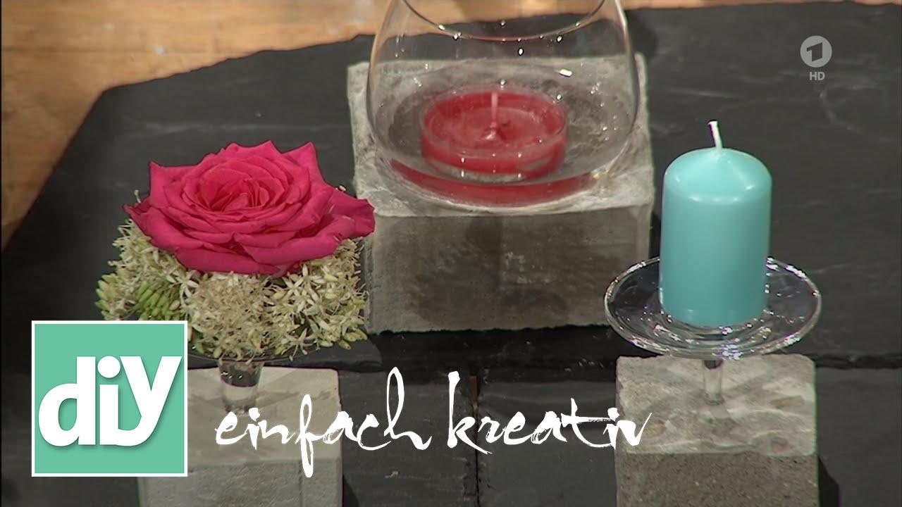 windlicht aus beton diy einfach kreativ youtube. Black Bedroom Furniture Sets. Home Design Ideas