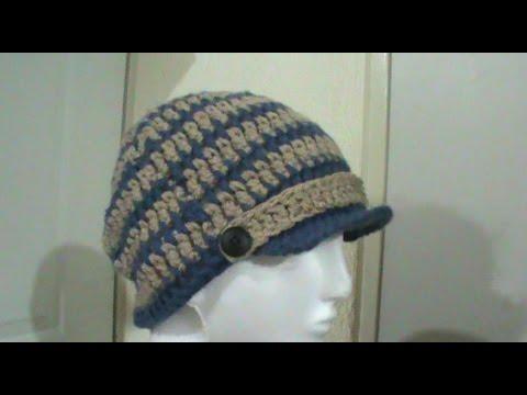 985c0f20d Gorro para niño   hombre tejido a crochet TUTORIAL - YouTube