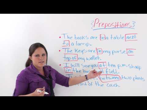 English Grammar Prepositions